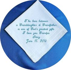 Grandfather of the  Bride  Heirloom by RidgeTopEmbroidery on Etsy
