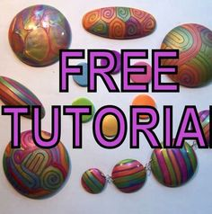 Jan Montarsi's tutorial using pearl clays and pinata inks which makes extruded strings glow ~ Polymer Clay Tutorials