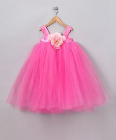 Take a look at this Pink Bella Princess Tutu Dress by Heart to Heart on #zulily today!