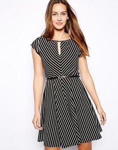 Image 1 ofOasis Stripe Chevron Dress