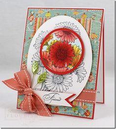 Gerbera daisies ; Spellbinders Nest. Classic ovals ; Classic circles