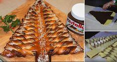 Recept na sladký vánoční stromeček plněný čokoládou, nutelou, marmeládou...