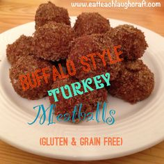 Buffalo Style Turkey Meatballs {Gluten