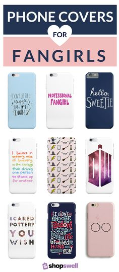 Get your geek on with one of these phone covers sure to make any fangirl squeal.