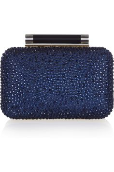 Diane von Furstenberg | Tonda crystal-embellished leather clutch | NET-A-PORTER.COM