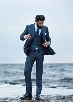 2017 Latest Coat Pant Designs Navy Blue Men Wedding Suits Slim Fit 3 Piece Tuxedo Custom Groom Suit Prom Blazer Terno Masculino