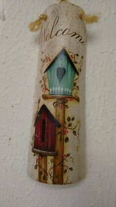 ideas primitive bird houses country decor for 2019 Crafts To Sell, Diy And Crafts, Arts And Crafts, Country Art, Country Decor, Painting Ceiling Fans, Decoupage, Diy Y Manualidades, Bird Houses Painted