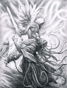 From the Book of Cain, i really enjoy this illustration for the style, as well as the fact Tyrael is my favorite character in the game. Illustration