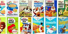 Cereal boxes of the 60s and 70s