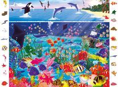 Praatplaat Oceaan onderzee dieren