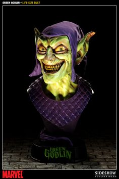Sideshow Collectibles and Marvel Comics proudly present the Green Goblin Life-size Bust, the latest addition to the Marvel collectible line. #sideshow #marvel #greengoblin