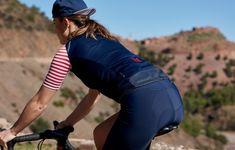 188f0e7b6 Women s Audax Merino Cycling Jersey Monique French Navy