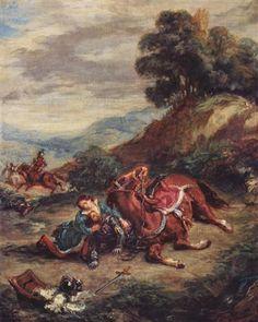 The death of Laras - Eugene Delacroix - Completion Date: 1858