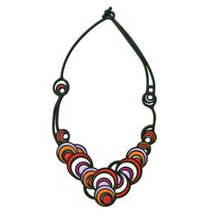 Batucada Dancing Circles Necklace - Red & Purple $49.95 #leethal #accessories #fashion