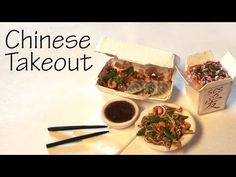 Easy Chinese Takeout - Stir Fry & Dumblings - Polymer Clay Tutorial - YouTube