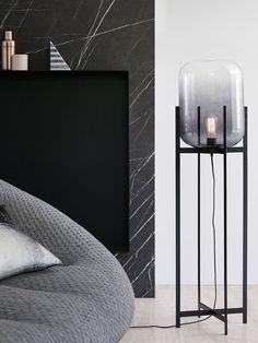 Lunden Floor Lamp in Black/Smoke