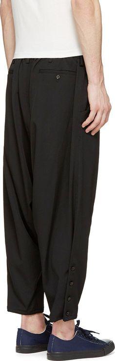 Yohji Yamamoto Black Wool Sarouel Trousers