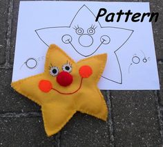Twinkle Little STAR -PDF sewing pattern - How to Make Star Hand Puppet via Etsy