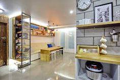 주방과 거실 뷰: 제이앤예림design의 다이닝 룸