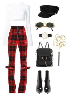 """""""Untitled #153"""" by carolina17-19-97 ❤ liked on Polyvore featuring Dilara Findikoglu, Off-White, Yves Saint Laurent, Jean-Paul Gaultier, WithChic, Givenchy and Topshop"""