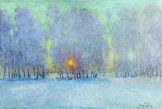 Le Frost. Lever du soleil (2), huile sur toile de Igor Emmanuilovich Grabar (1871-1960, Hungary)