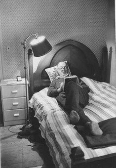 size: Premium Photographic Print: Author Vladimir Nabokov Writing While Lying on His Bed at Home by Carl Mydans : Subjects Vladimir Nabokov, Book Writer, Book Authors, I Love Books, Books To Read, People Reading, Room Of One's Own, Writers And Poets, Inspirational Books