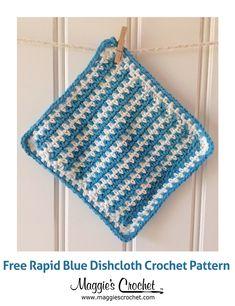 Rapid Blue Dishcloth Free Crochet Pattern