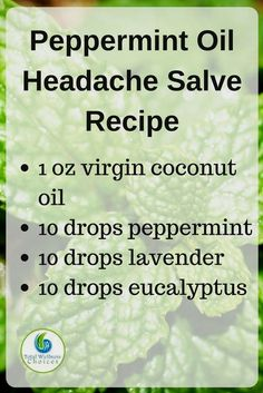 Help make your personal peppermint oil headache pain relief salve with this very simple diy essential oil headaches formula! Essential Oils For Headaches, Citrus Essential Oil, Essential Oil Diffuser, Essential Oil Blends, Headache Relief, Pain Relief, Stress Relief, Headache Oil, Salve Recipes