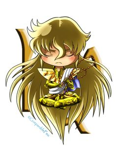 Hello, guys! I continue my training about chibi and I've decided to create a little series about Gold Saints of Saint Seiya! ^^ Here's our little Indian and little Buddha's reincarnation, Virgo...