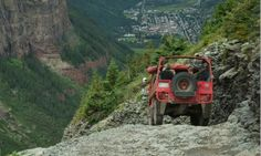 Off-Road Tour - Telluride, Colorado. Black Bear Pass ~ the most frightening jeep trip I've ever been on. Telluride Colorado, Visit Colorado, Colorado Homes, Colorado Mountains, Jeep Trails, Mountain Landscape, Adventure Is Out There, Summer Activities, Offroad