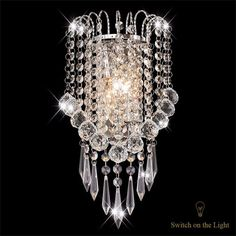Wall Light With Crystal Balls Drops Decorative Besides Wall #HomeCollection