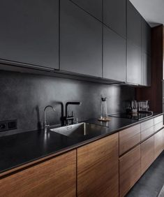 Best kitchen designs this year. Are you looking for inspiration for your home kitchen design? Take a look at the kitchen design ideas here. There is a modern, rustic, fancy kitchen design, etc. Modern Kitchen Interiors, Modern Kitchen Cabinets, Home Decor Kitchen, Interior Design Kitchen, New Kitchen, Kitchen Ideas, Kitchen Modern, Kitchen Inspiration, Kitchen Wood