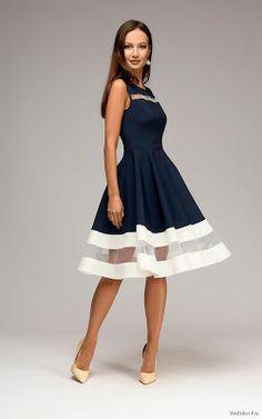 ec88bad733 Vestido Azul o Blanco Vestidos Azul Con Blanco