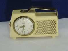 Vintage 1950's Koch Music Box Alarm Clock w/ Key! Great Condition, RUNS!    2-11-16    IN ALL OF OUR AUCTIONS, WE INCLUDE A PICTURE OF THE JEWELRY NEXT TO A DIME TO SHOW YOU THE SIZE TO SCALE; (The dime is not included in the auction).      THIS IS AN ABSOLUTELY GORGEOUS PIECE OF JEWELRY, AND WOULD LOOK GREAT ON YOU OR SOMEONE YOU KNOW. WE DON'T POST ANYTHING ON OUR ETSY SHOP THAT IS LOW QUALITY. EVERYTHING WE POST IS HIGH QUALITY VINTAGE ESTATE JEWELRY.     Most of our sterling silver items…