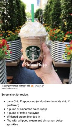 Starbucks Hacks, Starbucks Secret Menu Drinks, Starbucks Frappuccino, Starbucks Recipes, Starbucks Coffee, Healthy Starbucks, Coffee Recipes, Refreshing Drinks, Yummy Drinks
