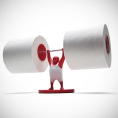 Mr T Roll Holder #weirdstuff This mighty little strongman helpfully raises the toilet tissue.