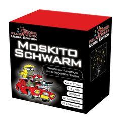 Moskitoschwarm: 50Schuss - Feuerwerksbatterie mit Blinkstern - Feuertöpfen und abbiegenden Brummern #Feuerwerk, #Röder, #Silvester, #Onlineshop, #Feuerwerksbatterie