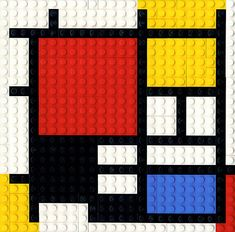 Bauhaus Movement Magazine - Lego's homage to Mondrian Piet Mondrian, Mondrian Dress, Mosaico Lego, Deco Lego, Tableaux Vivants, Ecole Art, Fantasy Kunst, Art Moderne, Art Plastique