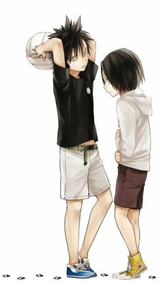 Haikyuu  |  Litlle Kuroo and Kenma