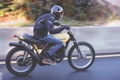 """onedownfourupmotorcycles: """"/// Sometimes the simplest bikes are the funnest bikes, Suzuki TS400. """""""