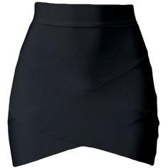 Black Cross Bandage Sexy Chic Ladies Mini Skirt ($10) ❤ liked on Polyvore featuring skirts, mini skirts, bottoms, faldas, saias, black, sexy miniskirts, sexy skirts, short skirts and mini skirt