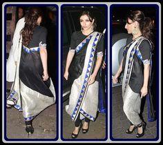 Loving how the saree is draped. (Anamika Khanna creation)