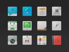 Signa Android UI Design Community — Signa Project (Simple Icons Set)