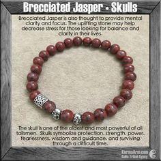 Meditation Yoga Mala Bracelet: Tridacna • Skulls