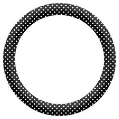 Free Printable Circular Labels with Polka Dots.