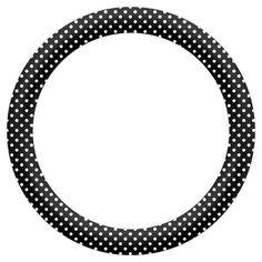 Etiquetas Circulares con Lunares para Imprimir Gratis.