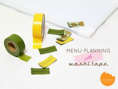 DIY Tutorial: Menu Planning with Washi Tape | @Onellyantie Chuah