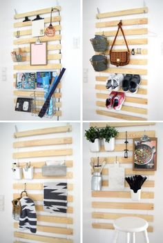 44 creative and easy diy furniture hacks diy ikea bed slats, Ikea Havks, Cama Ikea, Ikea Storage, Wall Storage, Hanging Storage, Storage Hacks, Ikea Bathroom Storage, Bedding Storage, Ikea Organization