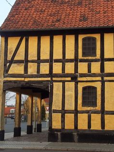town of Nykøbing Falster on the island of Falster, Denmark - 16th century half-timbered style