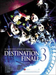 Destination finale 3 est un film de James Wong avec Mary Elizabeth Winstead, Ryan Merriman. Synopsis : Pour fêter la fin de l'année scolaire, Wendy et ses amis ont décidé de se retrouver dans un parc d'attractions. La soirée s'annonce comme la plus f